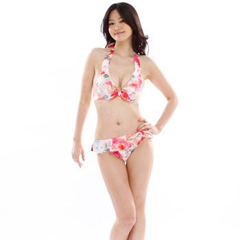 8f96516966c 【JILLSTUART】『Ray』7月号掲載フラワー柄ビキニ・スカート3点セットPNK:ピンク(標準パット付き)